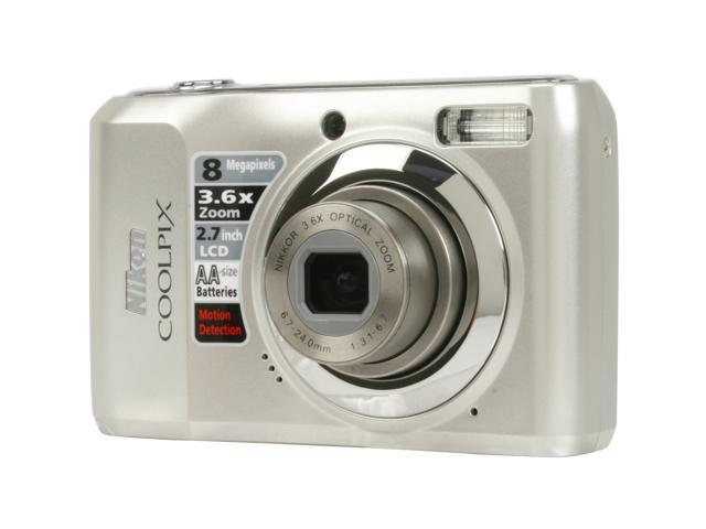 Nikon COOLPIX L19 Smooth Silver 8.0 MP 3.6X Optical Zoom Digital Camera