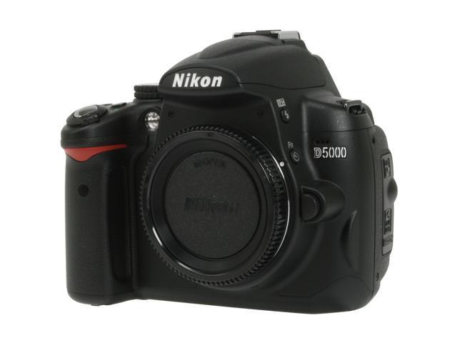 Nikon D5000 Black 12.3 MP Digital SLR Camera - 720p Movie - Body Only