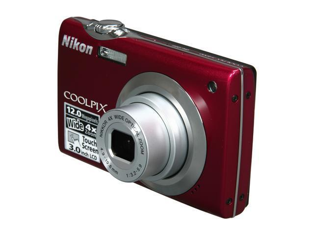 Nikon COOLPIX S4000 Red 12.0 MP 4X Optical Zoom 27mm Wide Angle Digital Camera