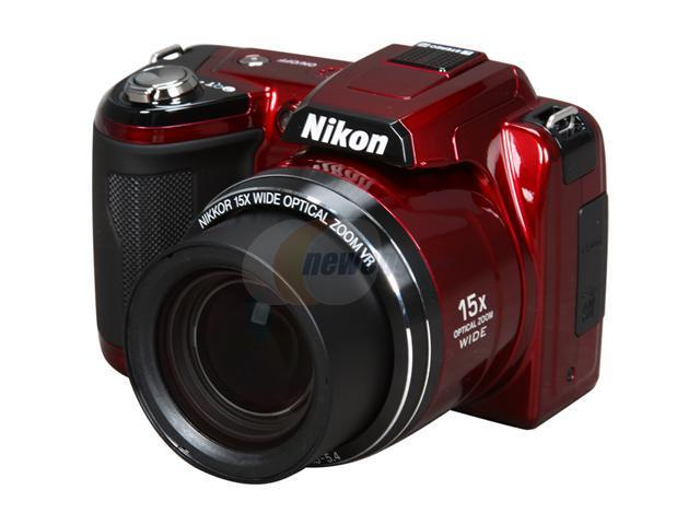 Nikon COOLPIX L110 Red 12.1 MP 28mm Wide Angle Digital Camera