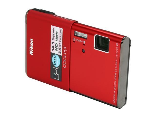 Nikon S80 Red 14.1 MP Digital Camera