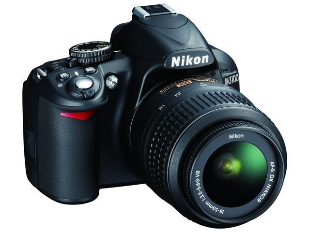 Nikon D3100 Black 14.2 MP Digital SLR Camera with 18-55mm VR Zoom Lens