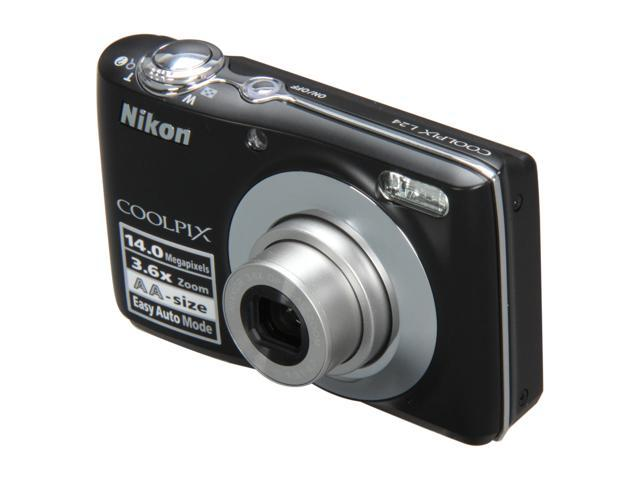 Nikon COOLPIX L24 Black 14.0 MP 3.6X Optical Zoom Digital Camera