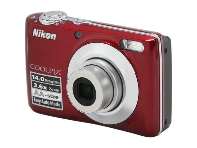 Nikon COOLPIX L24 Red 14.0 MP 3.6X Optical Zoom Digital Camera