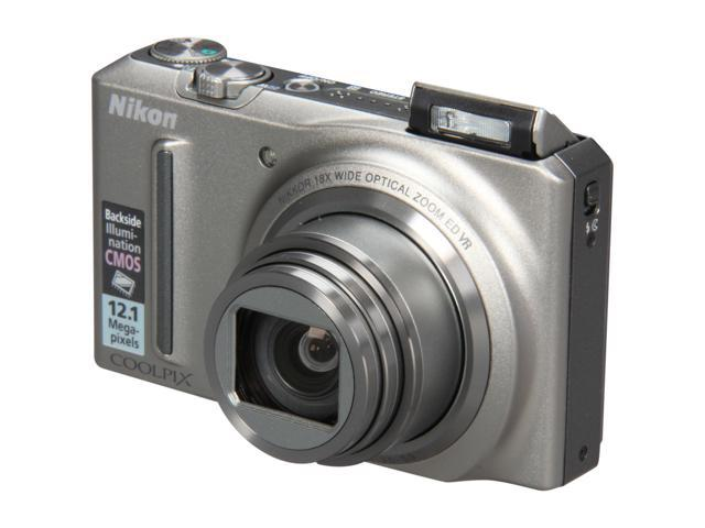 Nikon COOLPIX S9100 Silver 12.1 MP 18X Optical Zoom 25mm Wide Angle Digital Camera