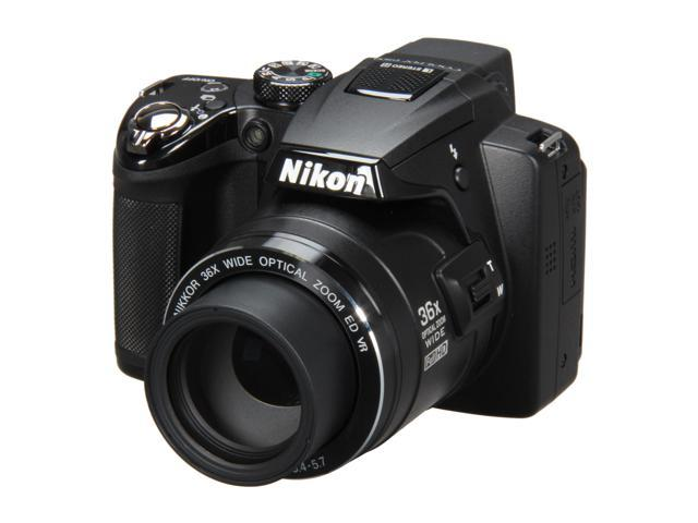 Nikon COOLPIX P500 Black 12.1 MP 36X Optical Zoom Wide Angle Digital Camera