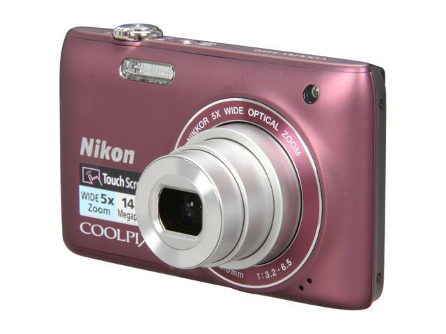 Nikon COOLPIX S4100 Plum 14.0 MP 5X Optical Zoom 26mm Wide Angle Digital Camera