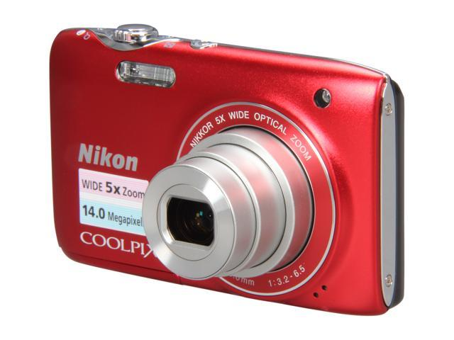 Nikon COOLPIX S3100 Red 14.0 MP Digital Camera