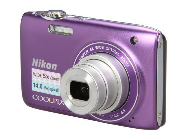 Nikon COOLPIX S3100 Purple 14.0 MP 5X Optical Zoom Digital Camera