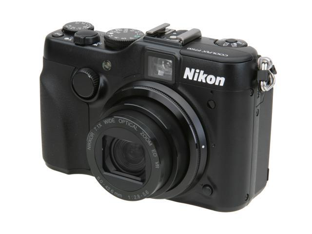 Nikon Coolpix P7100 Black 10.1 MP 7.1X Optical Zoom 28mm Wide Angle Digital Camera