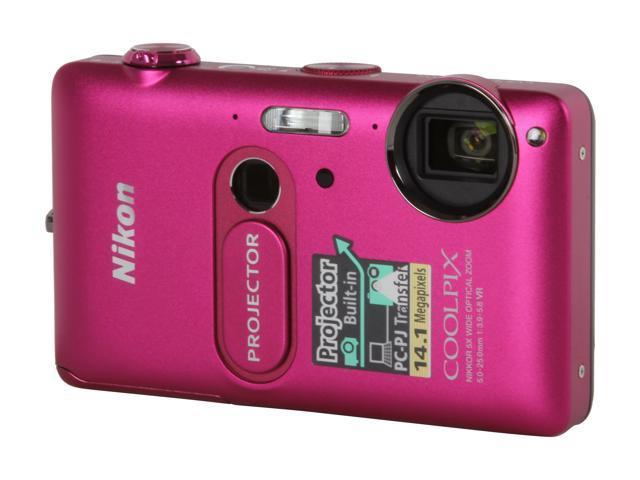 Nikon Coolpix S1200pj Pink 14.1 MP 28mm Wide Angle Digital Camera