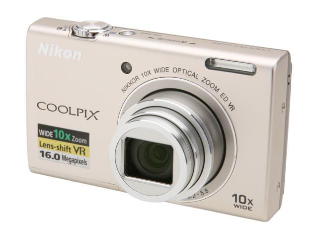 Nikon COOLPIX S6200 Silver 16 MP Digital Camera