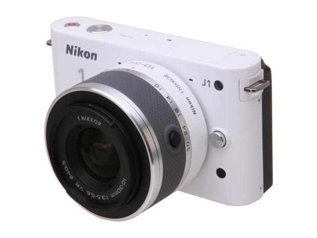 Nikon 1 J1 White Digital Camera w/10-30mm VR Lens