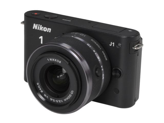 Nikon 1 J1 Black Digital Camera w/10-30mm VR Lens