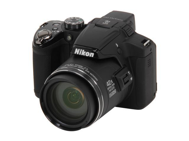 Nikon Coolpix P510 Black 16.1 MP 42X Optical Zoom 24mm Wide Angle Digital Camera                                                                                      HDTV Output