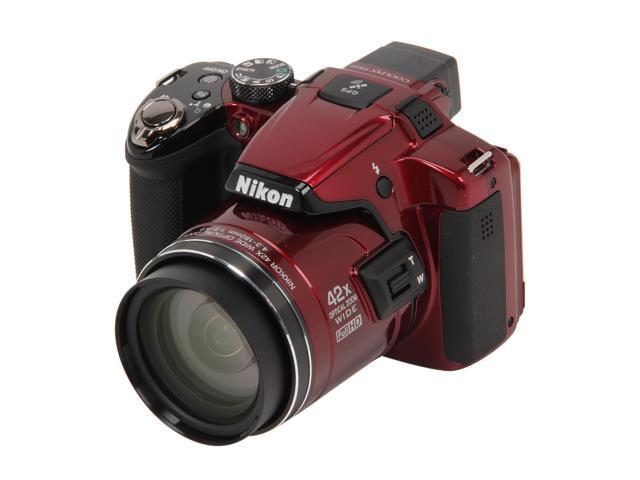 Nikon Coolpix P510 Red 16.1 MP 24mm Wide Angle Digital Camera                                                            ...