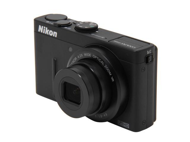 Nikon Coolpix P310 Black 16.1 MP 4.2X Optical Zoom 24mm Wide Angle Digital Camera HDTV Output