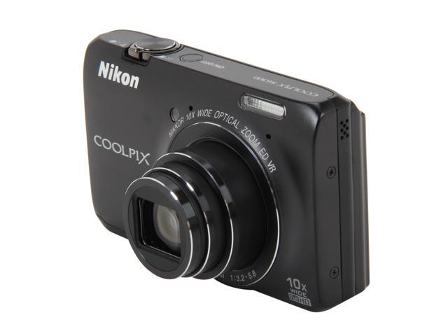 Nikon Coolpix S6300 Black 16MP 25mm Wide Angle Digital Camera HDTV Output