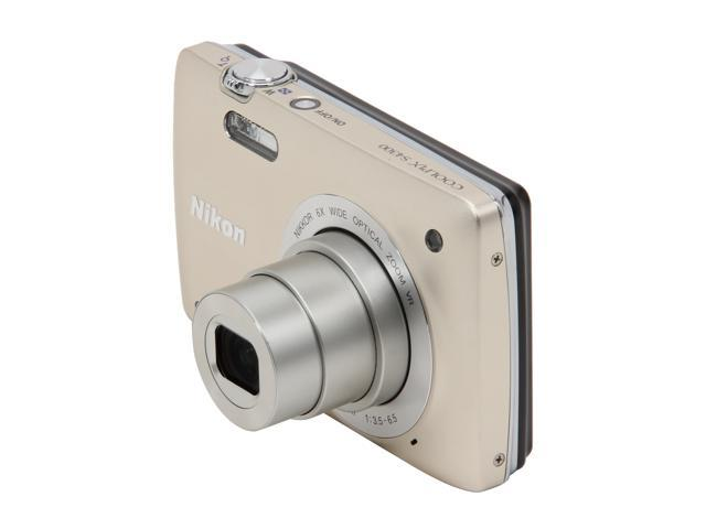 Nikon Coolpix S4300 Silver 16 MP 6X Optical Zoom 26mm Wide Angle Digital Camera