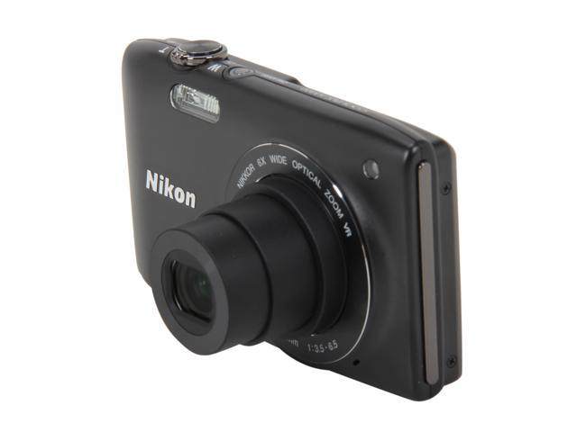 Nikon Coolpix S3300 Black 16MP 6X Optical Zoom 26mm Wide Angle Digital Camera