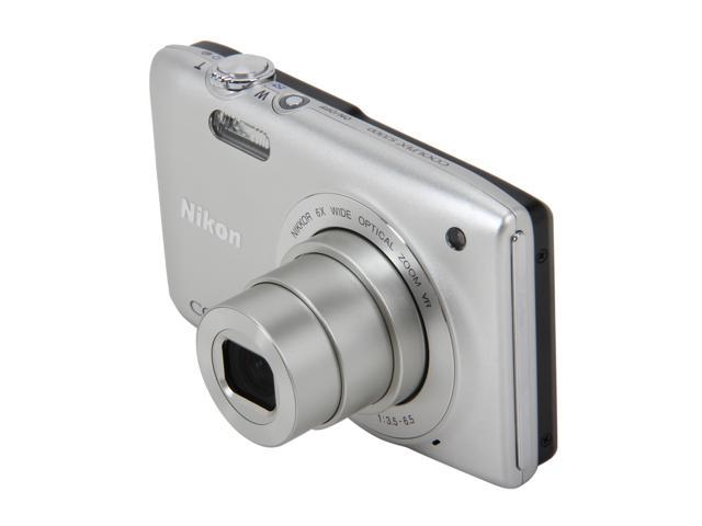 Nikon Coolpix S3300 Silver 16MP 26mm Wide Angle Digital Camera