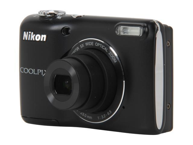 Nikon Coolpix L26 Black 16.1 MP 5X Optical Zoom Wide Angle Digital Camera