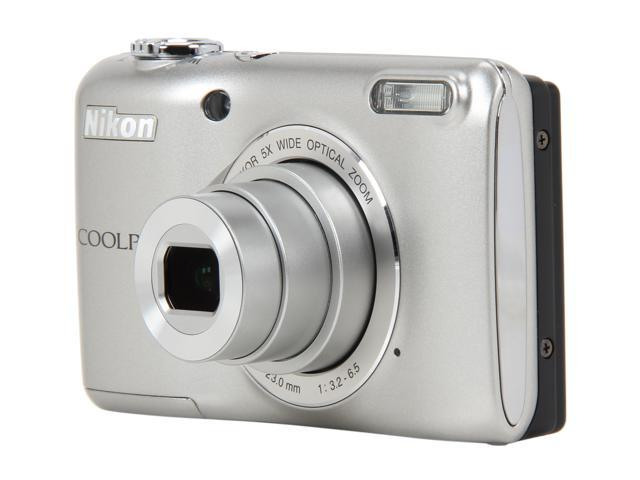 Nikon Coolpix L26 Silver 16.1 MP 5X Optical Zoom Wide Angle Digital Camera