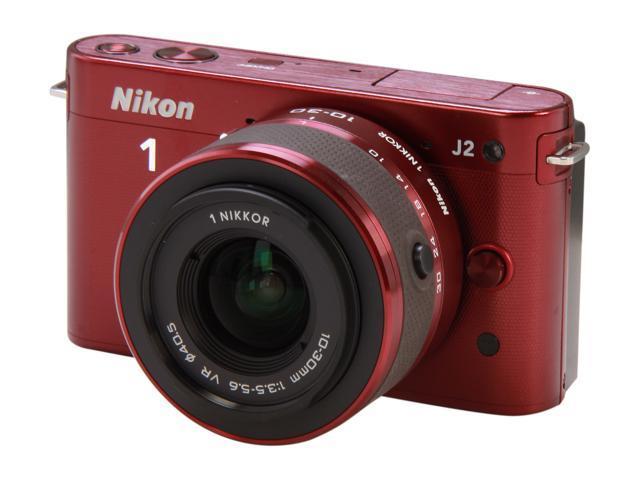 Nikon 1 J2 (27575) Red Mirrorless Camera w/10-30mm VR Lens