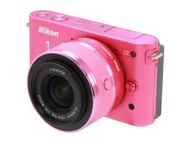 Nikon 1 J2 (27576) Pink Mirrorless Camera w/10-30mm VR Lens