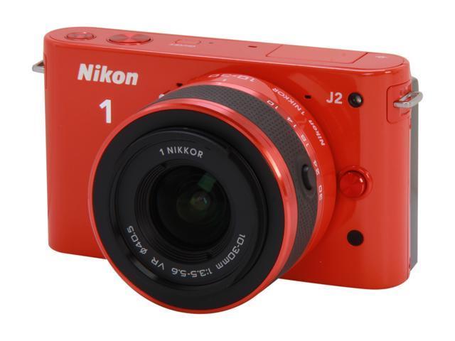 Nikon 1 J2 (27577) Orange Mirrorless Camera w/10-30mm VR Lens