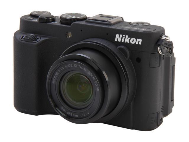 Nikon Coolpix P7700 Black 12.2 MP 7.1X Optical Zoom 28mm Wide Angle Digital Camera                                                                                      HDTV Output