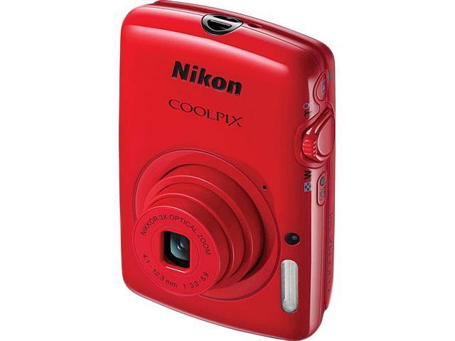 Nikon COOLPIX S01 Red 10.1 MP 3X Optical Zoom Digital Camera