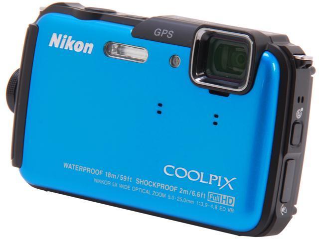 Nikon COOLPIX AW110 Blue 16 MP Waterproof Shockproof Digital Camera
