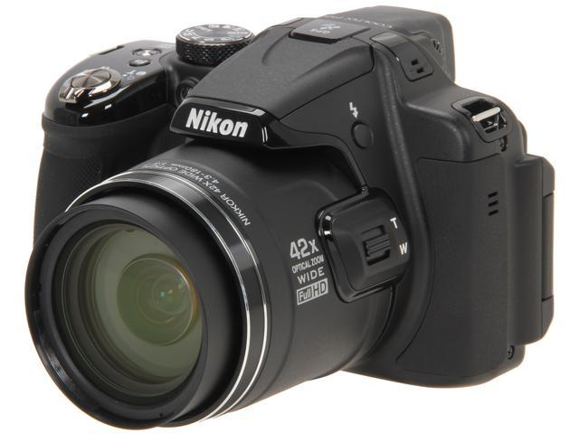 Nikon COOLPIX P520 Black 18.1 MP Wide Angle Digital Camera HDTV Output