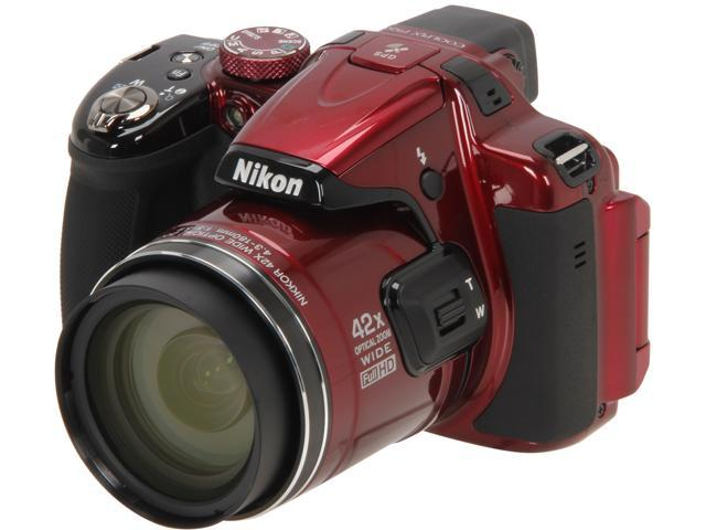Nikon COOLPIX P520 Red 18.1 MP 42X Optical Zoom Wide Angle Digital Camera HDTV Output