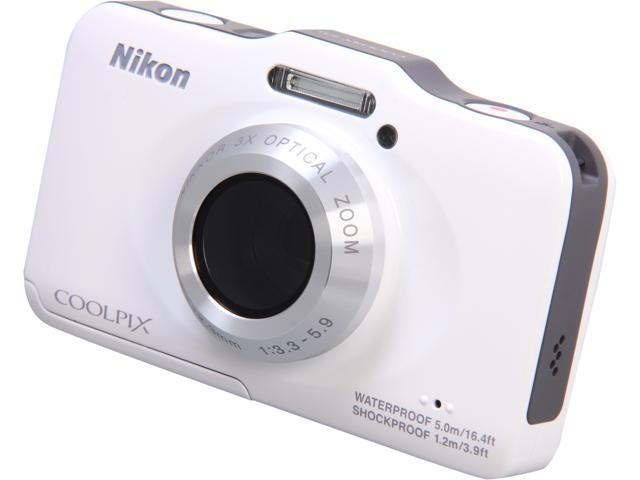 Nikon COOLPIX S31 White 10.1 MP Waterproof Shockproof Digital Camera