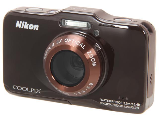 Nikon COOLPIX S31 Brown 10.1 MP Waterproof Shockproof Digital Camera