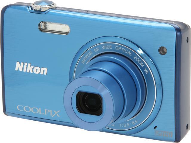Nikon COOLPIX S5200 Blue 16 MP Wide Angle Digital Camera