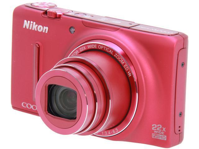Nikon COOLPIX S9500 Red 18.1 MP Digital Camera