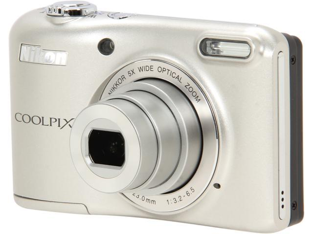 Nikon COOLPIX L28 Silver 20.1 MP 5X Optical Zoom Wide Angle Digital Camera