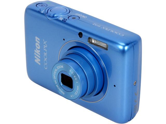 Nikon COOLPIX S02 Blue 13.2 MP 3X Optical Zoom Digital Camera HDTV Output