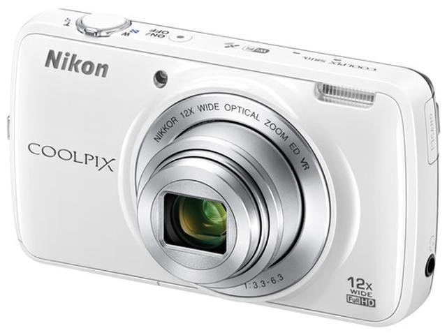 Nikon COOLPIX S810c White 16.0MP 12X Optical Zoom 25mm Wide Angle Digital Camera HDTV Output