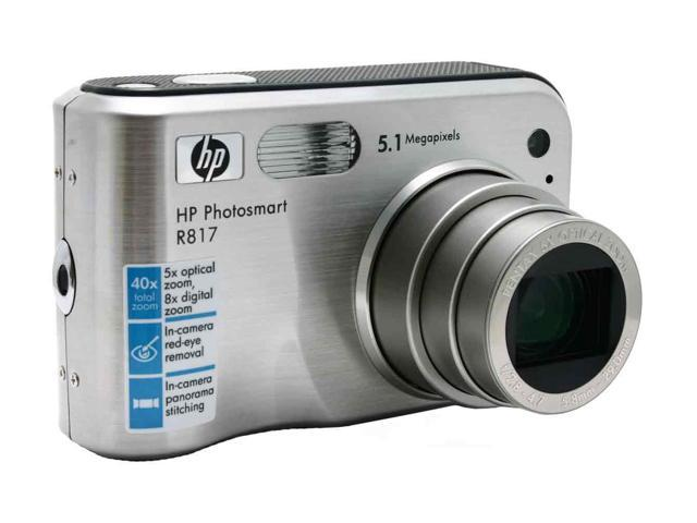 HP R817 Silver 5.1 MP 5X Optical Zoom Digital Camera