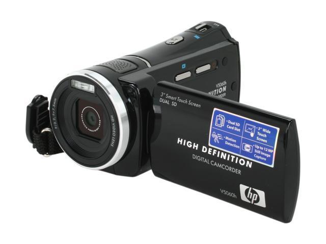HP V5060h Black HD Flash Memory Camcorder