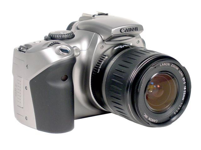 Canon EOS Digital Rebel Silver 6.3 MP Digital SLR Camera w/ EF-S 18-55mm f/3.5-5.6 Lens