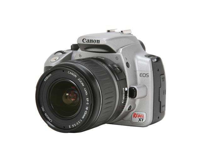 Canon Digital Rebel XT Silver 8.0 MP Digital SLR Camera w/EF-S 18-55mm f/3.5-5.6 II Lens
