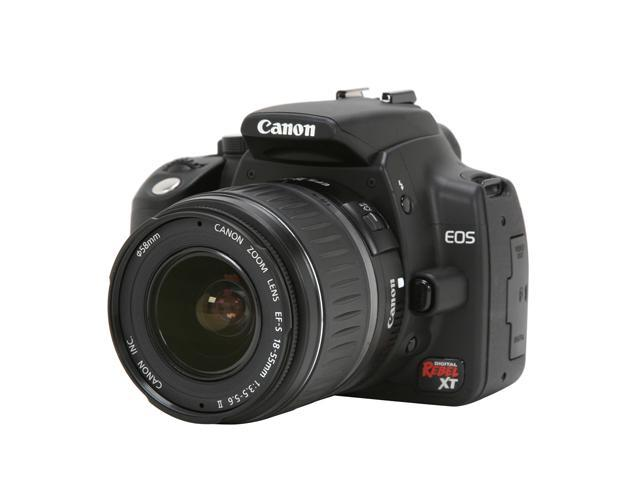 Canon Digital Rebel XT Black Digital SLR Camera w/EF-S 18-55mm f/3.5-5.6 II Lens
