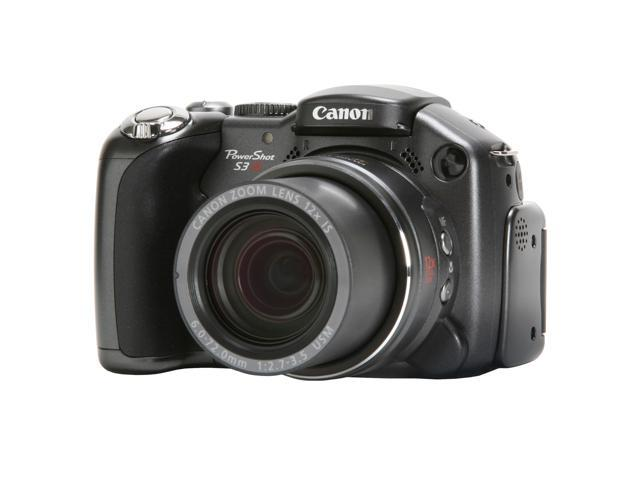 Canon S3 IS Black 6.0 MP 12X Optical Zoom Digital Camera