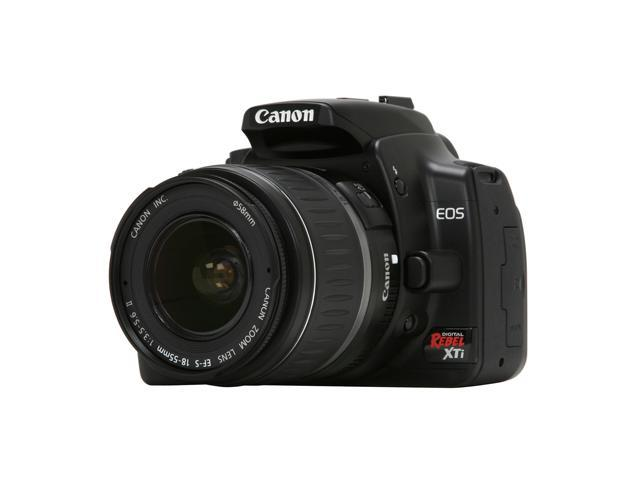Canon EOS Rebel XTi Black 10.10 MP Digital SLR Camera w/EF-S 18-55mm f/3.5-5.6 II Lens