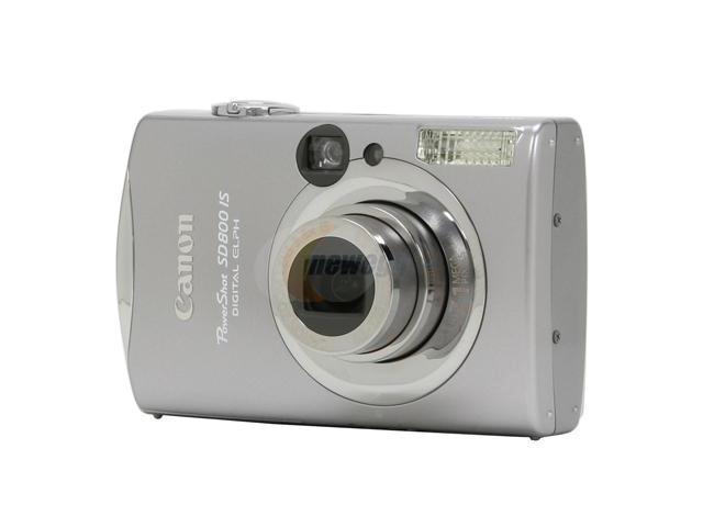 Canon PowerShot SD800 IS Silver 7.1 MP 28mm Wide Angle Digital Camera